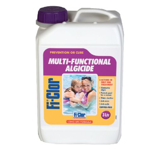 Fi-Clor Multi-Functional Algaecide 3 litres (Copper Free)